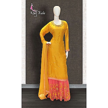 Yellow and Peach Uppada Sharara Suit  http://www.khojkaladesign.com/sharara/yellow-and-peach-uppada-sharara-suit.html  SKU: KHOJ2821 ₹6,295  #fashion #women #dupattasuits #instagood #love #womenstyle   #salwarkameez #casualselfie #me #like #clothes #beautiful   #indianwomenclothing #khojkala #casualsalwarkameez   #salwarsuit
