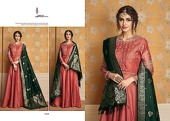 Eba Banaras Vol 1 Tusser Satin Readymade Gowns Supplier Price per Piece :- ₹1,895 + ₹95 (GST 5%) Minimum Order :- 6 Pcs  Top :- pure tussar satin with heavy coding work front back work Dupatta :- pure banarasi Size :- M (38) L(40) XL (42) Upcoming Date:-29/01/2019 Product link :- https://castillofab.com/eba-banaras-vol-1-ready-made-gowns-with-banarasi-dupatta -------------------------------------------------------- Call/whatsapp :- +91 8530 23 23 30 Visit our website :- www.castillofab.com -------------------------------------------------------- #gown #designergown #heavygown #longgown #simplegown #plaingown #bluegown #blackgown #latestgown #gowndesign #onlinegowns #gownatbestprice #suratgown #onlineshopping #wholesale #export #castillofab