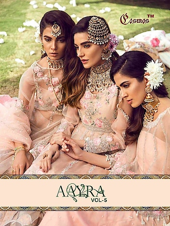 Cosmos Aayra Vol 5 Pakistani Luxury Salwar Suit Collection Price per Piece :- ₹1,199 + ₹60 (GST 5%) Minimum Order  :- 4 Pcs  Top :- PURE ORGANZA / SOFT NET WITH HEAVY EMBROIDERY Bottom :- HEAVY SANTOON Dupatta :- NAZMEEN WITH PEARL / SOFT NET WITH HEAVY EMBROIDERY  Upcoming Date:-26/01/2019 Product link :- https://castillofab.com/cosmos-aayra-vol-5-pure-organza-pakistani-salwar-suits -------------------------------------------------------- Call/whatsapp :- +91 8530 23 23 30 Visit our website :- www.castillofab.com -------------------------------------------------------- #salwarsuits #wholesale #latestsuits #salwarkameez #international #designersalwar #newlaunch #brandedsalwarsuits #suratcollection #indianstyle #weddingwear #bestrate #salwarsuitdesignes #salwarsuitmanufacturer #palazzo #cottonsuits #castillofab
