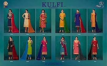 Avc Kulfi Vol 3 Banarasi Silk Dress Materials Wholesale Rate Price per Piece :-₹499 + ₹25 (GST 5%) Minimum Order :- 12 Pcs  Top :- Banarasi Silk Bottom :- Cotton Dupatta :- Chanderi Upcoming Date:-25/01/2019 Product link :- https://castillofab.com/avc-kulfi-vol-3-banarasi-silk-dress-material-wholesaler -------------------------------------------------------- Call/whatsapp :- +91 8530 23 23 30 Visit our website :- www.castillofab.com -------------------------------------------------------- #dress #wholesale #latestdress #dressmaterial #international #designerdress #newlaunch #brandeddress #suratcollection #indianstyle #weddingwear #bestrate #dressmaterialdesignes #dressmanufacturer #palazzo #cottondress #pashminadress #wintercollection #castillofab
