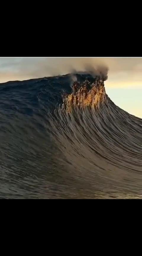 😮Mother Nature at her best!😮 #roposo-wow #seawave #roposowow #captured #roposocaptured #roposowow #ocean #oceanwave #mothernature