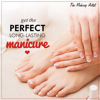 Follow this simple tip and get a perfect Manicure. Like our Page for more such Tips.  #Manicure #Tips #YoungerLookingHand #Beauty #Women #Glam #Makeup #Makeupartist  Visit - http://www.themakeupartist.in/services/nail-art-extension