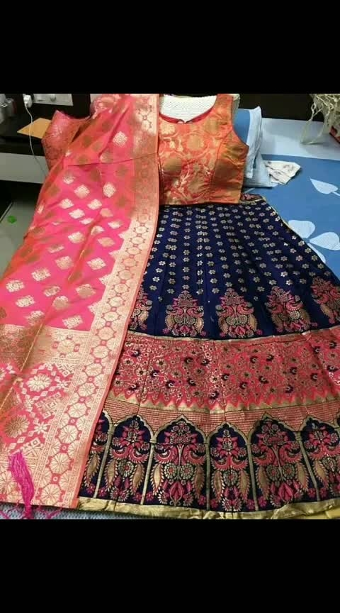 Full stock ready  Material: Thread workLehnga and ready paded Blouse and Banarasi duppta   #Lehnga details#  Length: 42 Waist:38-40 Flair:4mt + Semistiched as left from 1 side for waist fitting  With cane cane and lining  Pattern: umbrella with full flair  #Blouse details#  Standard size: ▪36-38 size ready  and  ▪2 inches margin inside so can extend till 40 ▪Sleeves attached inside ▪Pacho blouse no sleeve come  ▪padded Blouse  Singel pc Price 3450/-  Full stock ready Free shipping