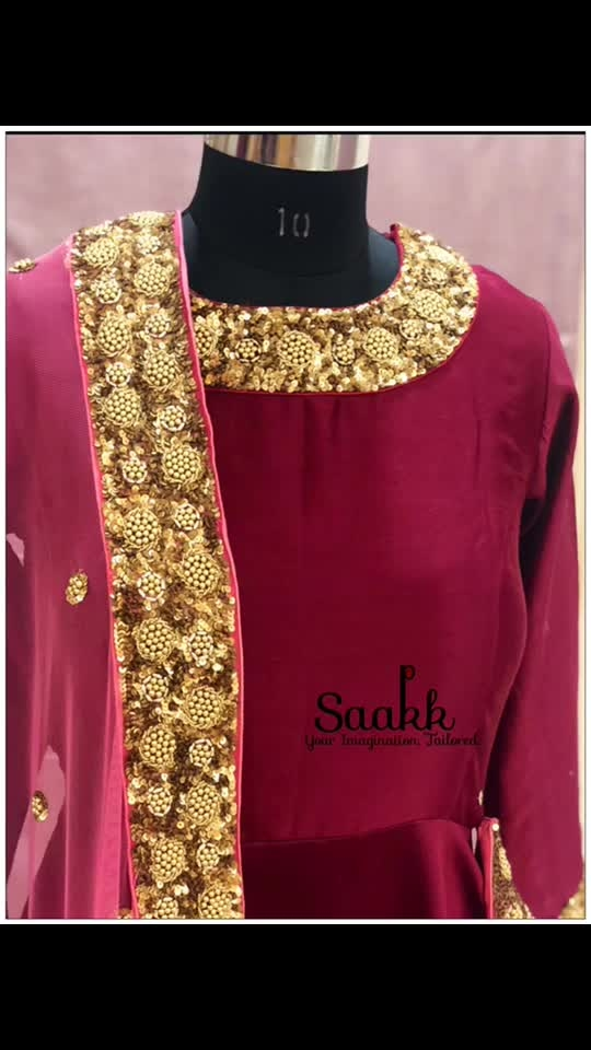 A great dress can make you remember what is beautiful in life! #getyouroutfitssorted #pretoporte #anarkali #saakk #saakkbysakshi #saakkyourimaginationtailored