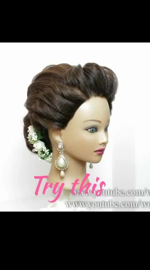 Hairstyle 💝 #Roposo#hairstyletips#hairstyle