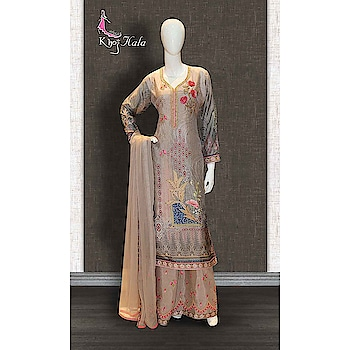 Grey Uppada Sharara Suit http://www.khojkaladesign.com/sharara/grey-uppada-sharara-suit-17581.html  SKU: KHOJ9043 ₹4,405 #fashion #women #dupattasuits #instagood #love #womenstyle #salwarkameez #casualselfie #me #like #clothes #beautiful #indianwomenclothing #khojkala #casualsalwarkameez #salwarsuit