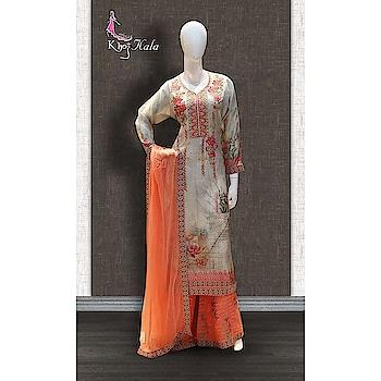 Grey and Orange Uppada Sharara Suit http://www.khojkaladesign.com/sharara/grey-and-orange-uppada-sharara-suit.html  SKU: KHOJ9037 ₹4,720  #fashion #women #dupattasuits #instagood #love #womenstyle #salwarkameez #casualselfie #me #like #clothes #beautiful #indianwomenclothing #khojkala #casualsalwarkameez #salwarsuit
