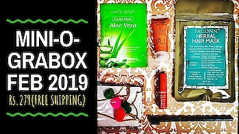 Mini-o-Grabox February 2019 @279 | Unboxing & Review  Mini-o-Grabox offers Skincare, Makeup & Jewellery for just Rs.279 including shipping, making is super affordable option to try out new products or even for a pocket friendly gift!From the Feb 2019 edition of Mini-o-Grabox, my favourite picks would be the Hair Pack and the Cosmetofood Choco Skin Soother! . . . . To know more watch the full unboxing & review video on my channel. Link in bio! 💕 . . . . To Order this Box : https://faconn.com/ Instagram DM : https://www.instagram.com/thefaconn/ . . . . #grabox #febgrabox #miniograbox #minigrabox #allinone #beautybox #makeup #skincare #jewellery #mostaffordable #freeshipping #budgetfriendlybox #savemore #discoveringsubscriptions #unboxingandreview #subscriptionboxreview #subscriptionboxindia #youtuber #sonammahapatra