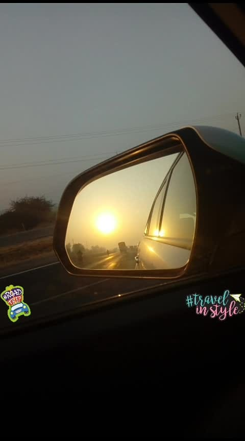 #tripling #morningtrip  #sunriselovers  #sundaymood  #sunbeam