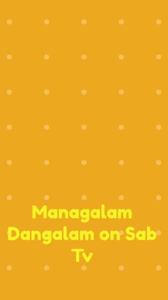 #MangalamDangalam #SabTv