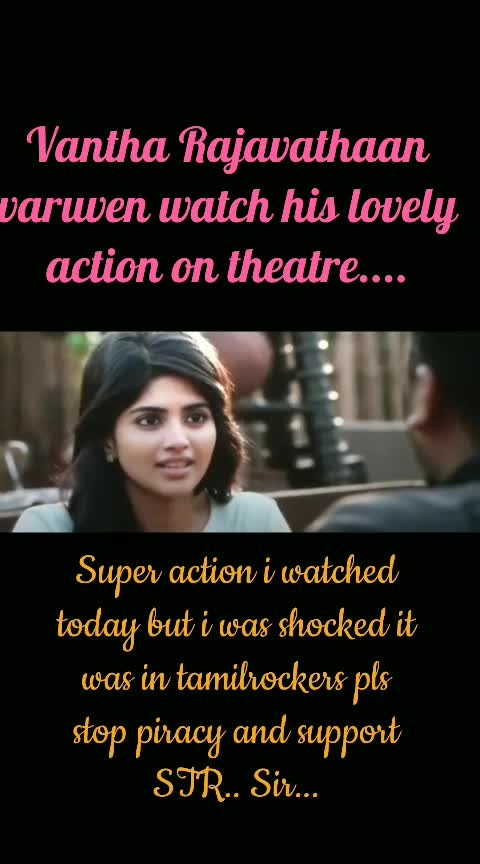 forwarded what'sup video....#vantha_rajavaathan_varuven #vantharajavathaanvaruven #vantharajavathanvaruven #vantha_rajavaathan_varuven  #vantharajavathaanvaruven #vantharajavathaanvaruven_promo #vantharajavathanvaruven  #roposo-tamil  #officialtrailer #Trailer #str #strfans  -#hiphoptamizha  #sundarc #lycaproductions #tamil #tamil-actress #tamilmovies #tamilmovie