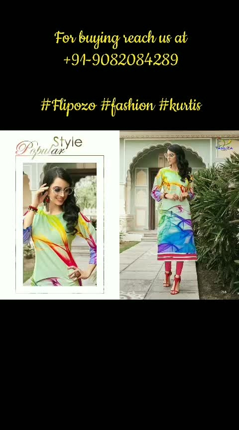 """Fabric: Poly Rayon Size: M (38"""") / L (40""""/ XL (42"""") / XXL (44"""")  singles @ just Rs.630/-  shipping extra  To Purchase ping us at 9082084289. Resellers Welcome.  https://www.facebook.com/media/set/?set=a.260949741228539&type=1&l=e56cbd95ef  Facebook Flipozo Group: https://www.facebook.com/groups/402358163596968  #Flipozo #FAZZN #ResellersWelcome #rayon #EthnicWear #Ethnic #Kurti"""