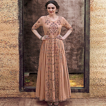 Exclusive Ready to Wear Gowns...❣️ Price:- 2850/- Top Stitch with Size M, L, XL, XXL 💗 Worldwide Shipping 📦 ✈ 💗 For Order/Price What-app us (+91) 8097909000 💗 Quality Assured 💗 Custom Stitching * * * * #readymadegown #readytowear #dresses #longsuits #suitsonline #embroidered #onlinefloralsuit #floral #fashion #style #gown #gowns #classy #designer #partywear #partyweargown #exclusive #ethnic #floralprinted #love #us #uk #usa #international #worldwideshipping