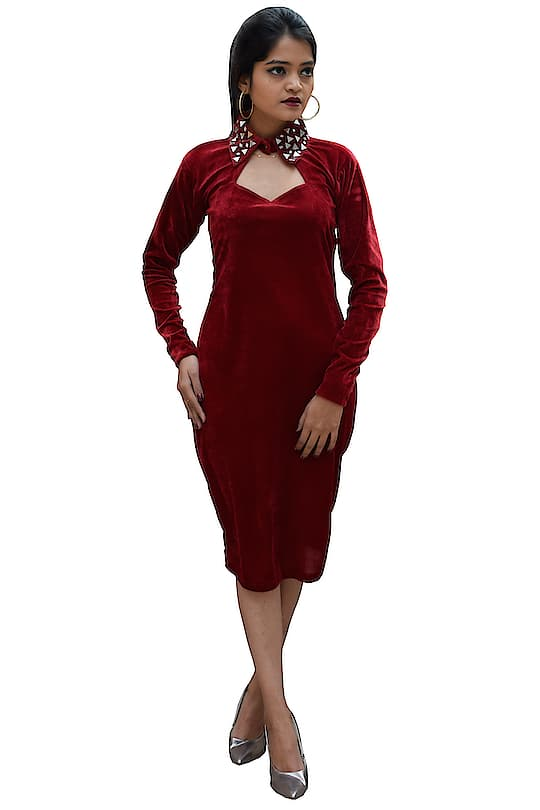Rajkumari Rock Rose Mirror Work at Neck line Velvet Dress for Women  Fit Type: Regular Fit Style: Rock Rose Short Dress Material: Velvet Fit Type: Regular Fit Occasion: Casual Wear, Party Wear Available Size: X-Small, Small, Medium, Large, X-Large, XX-Large Here are very beautiful designer one piece red velvet dress for valentine day from the house of Rajkumari You can purchase now on Amazon market place #dress #womensdress #dressforgirls #valentinedress #partyweardress #onepiecedress #designerdress https://www.amazon.in/dp/B07N3Z39LR?ref=myi_title_dp