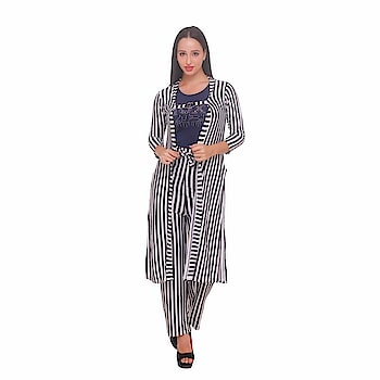 """Future Girl Black & White Women's Stretchable Dress Set- (Pant, Shrug, Top)  Care Instructions: Dry in shade Fit Type: Regular Fit Classic design top with fine decoration wild style. Team it with pair of jeans and flats to step out in style. Best worn in any party, festivals, casually in college, hang outs for elegant and smart look. This Trendy top is designed for comfort with regular fits, and the stitching is great fit perfectly on the body. Machine wash ,Wash Seperately in Cold Water , Do not Bleach, Medium Iron, Dry in Shade Future girl ensures each of the design is created with utmost care and attention completes all the checking processes and finally comes to you to give you a beautiful piece which you can admire for your life. Create your own style statement by wearing modish and trendy apparels from the brand """" Future girl"""".  Buy Now :- https://amzn.to/2SrseqK   #dress #dressforwomen #womensdress #casualdress #formaldress #top #topforwomen #womenstop #casualtop"""