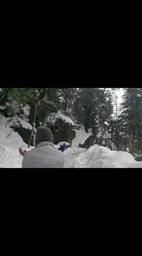 After Snowfall on the Roads of Chamba!  #chamba #himalayas #himachaldiaries