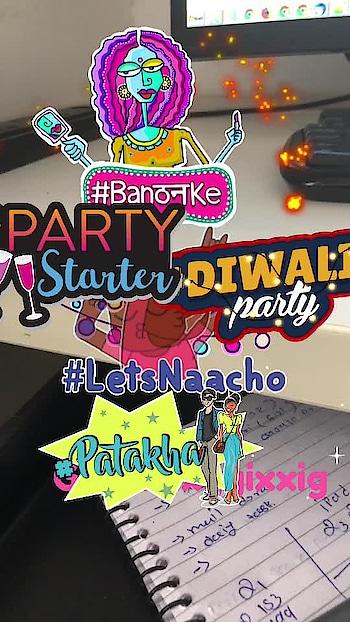 #diwaliparty #patakha #banthanke #letsnaacho #glitter #lights #letsnaacho #partystarter