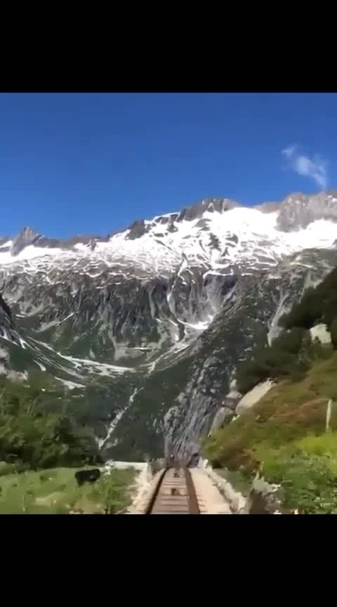 Take a Train through the Swiss Alps! 🚂 Would you go for a ride? Join The Comunity #DoplexMedia #travelporn #travelmemories #viralvideos #droneshot #funnyvideo #luxury