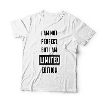 """I Am Not Perfect But I Am Limited Edition"" High Quality Cotton T-shirt @ 349/-😍😍 Free Shipping + Cod Available #tshirt #tshirtdesign #tshirtshop #unisextshirt #valentines #offer #sale #offerskraft #giftshop #instafashion"