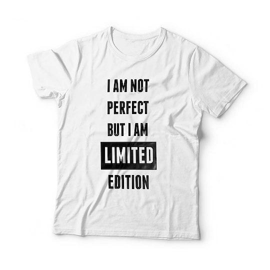 """I Am Not Perfect But I Am Limited Edition"" High Quality Cotton T-shirt @ 349/-😍😍 Free Shipping + Cod Available #tshirt #tshirtdesign #tshirtshop #unisextshirt #valentines #offer #sale #offerskraft #giftshop #instafashion"