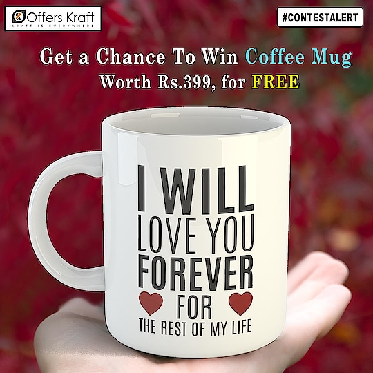 ✨✨ :::: Contest Alert :::: ✨✨ For those who love coffee☕️ , here is your chance to win coffee mug worth Rs. 399 for FREE 🎁🎁 All you need to do is: 1. Follow @offerskraft  2. Tag maximum friends in comment below. 3. 1 lucky winner will be chosen at random on 11 February, 2019. 🎁  #contest #contestgiveaway #contestindia#contestgram #contesttime #coffeemug#valentines #valentinecontest #valentinegift#giftforher🎁 #giftforhim🎁 #freebies #InstaStory #tagandwin #shareandwin #followtowin