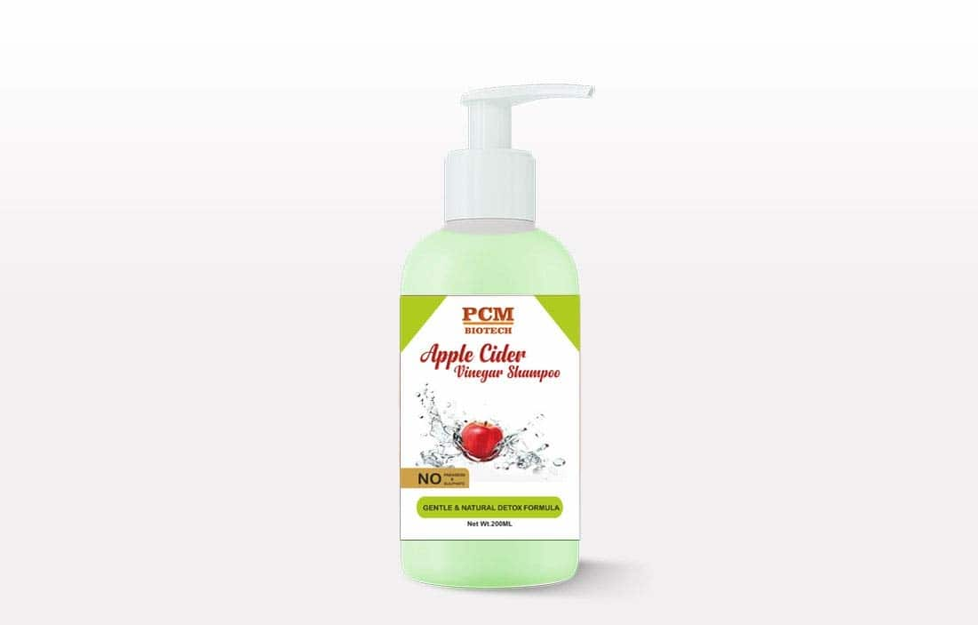 PCM Biotech, Apple Cider Vinegar Shampoo Sulphate and Parabens Free, (200ml)  Apple cider vinegar helps to balance the pH of hair and scalp, stimulating better circulation to the hair follicles, which in turn strengthens hair roots. Great Luxury Hair Care Without Sacrificing your Health: Contains NO Sulfates, Parabens, Sodium Chloride, Gluten. Researchers have found that shampoos containing sulfates and other harmful ingredients can cause itchy scalp, serious skin irritation and disease, hair loss and damage, and the ability to create nitrate compounds which have been linked to cancer and cell damage. PCM Biotech contains NONE of these harsh chemicals. An after shampoo apple cider vinegar rinse can do wonders to your hair, retaining the pH level of your scalp and leaving you with soft, shiny and smooth hair. Its anti-fungal and anti-bacterial properties help combating scalp infections, dryness, itchiness and dandruff. This Formulation Suitable for all age group, for men and women.It has properties that balance your scalp and hair pH level.  Buy Now : https://amzn.to/2Dh6qEJ