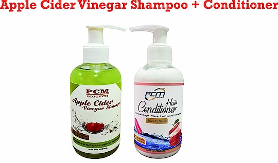 PCM Biotech, Apple Cider Vinegar Shampoo and Conditioner With Natural Ingredients Combo   Apple cider vinegar helps to balance the pH of hair and scalp, stimulating better circulation to the hair follicles, which in turn strengthens hair roots. Great Luxury Hair Care Without Sacrificing your Health: Contains NO Sulfates, Parabens, Sodium Chloride, Gluten. Researchers have found that shampoos containing sulfates and other harmful ingredients can cause itchy scalp, serious skin irritation and disease, hair loss and damage, and the ability to create nitrate compounds which have been linked to cancer and cell damage. PCM Biotech contains NONE of these harsh chemicals. Naturally effective. Nourished hair is manageable hair. This advanced formulation helps dramatically transform hair building strength and provide intense shine, without residue build up The acetic acid in apple cider vinegar is a potent antimicrobial which can kill bacteria and fungus, common underlying causes of dandruff and hair loss, making it a fantastic natural cure.  Buy Now :- https://amzn.to/2Djf5qb