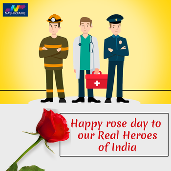 Happy rose day to our Real Heroes. 🌹🌹 Thank you so much for your sacrifice and service.... 🙏🙏👨‍⚕️👮‍♂️👩‍⚖️  #valentineday #valentinesday #valentinesday2019 #happyvalentinesday #India #IndianArmy #Salute #soldier #indiasoldiers #ProudToBeAnIndian #SaluteIndia #OurPride #HappyRoseDay #RoseDay #Rose #Doctor #Police #indianpoliceservice #army #indianpolice #savelifes #military #Nashikfame #Nashik #Nasik