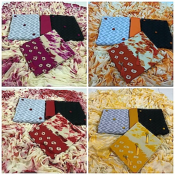 New Bandhani Pure cotton Salwar Suits...❣️ RATE -1200/- new rate  TOP 1 - cotton black TOP 2 - cotton whit TOP 3 - Bandhani print  Bottom - cotton, Dupatta - Nazneen * * * * #salwar #salwarsuits #dress #dresses #longsuits #Banarasi #suitsonline #embroidered #onlinefloralsuit #floral #printedsuits #printed #straightsuits #dupatta #fashion #stylish #love #online-shopping