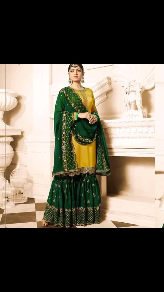 Drashti  Dhami Yellow Satin Georgette Gharara Suit  Product code - FCSS1821 Available at www.fashionclozet.com  Watsapp - +91 9930777376 Email -  info@fashionclozet.com Or DM for enquiries. #indianwear #indianfashion #indianwedding #instagram #adorable #beautiful #bollywood #makeup #mumbai #indianstyle #palazzo #punjabisuits #indowestern #bridalsarees #palazzopants #designerwear #saree #punjabiweddings  ##palazzoskirt #blogger #fashionblogger #weddingphotography #vancouverwedding #weddingphotographer #indianweddingbuzz #bridallehengas  #bridesmaids  #saree #gharara