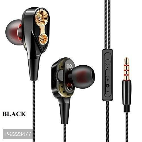 Premium Earphones/Earbuds/Headphones With Stereo Mic & Remote Control For IPhone IPad IPod Samsung Galaxy And More Android Smartphones Compatible With 3.5.  @ 403.00/-  Color: Black Type: Headsets Design Type: In-ear Features: Noise Cancelling Connectivity Technology: Wired - 3.5 MM Single Pin Microphone: With Microphone Length: 10.0 (in mm)  Product Description TWO DRIVERS - These headphones have two ( 10 + 8 mm Speaker) Dual Dynamic Driver. Together they an extremely accurate listening experience with unsurpassed dynamic power and clarity from deep bass to sizzling highs ERGONOMIC DESIGN The Shape Natural ear fittings naturally match your ear canals. 3 sets of included ear tip sizes ensure a proper fit for all. They're more and less likely to fall out, freeing you to enjoy your music In-Line Microphone with sound Control - CK-8 wired earphones features an in-line microphone which enables troublefree receiving of calls or undeterred sessions of musical extravaganza. Easily take calls and manage your music on any smart device and sound Control Multi-Function Button and Universal Compatibility and sound Control Button - Answer or end calls, activate voice control, skip tracks sound Up and Down without digging for your device.  Shipping & Delivery  Shipping Charges: FREE   Delivery: Within 6-8 business days  RELATED PRODUCTS