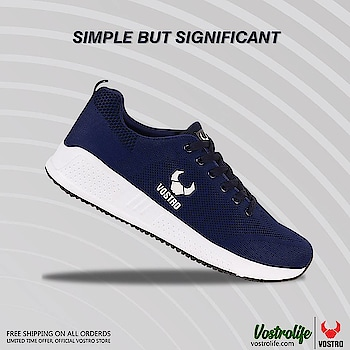 VOSTRO ZEST Navy Men Sports Shoes | Shop online at: http://bit.ly/2TGLVbh  Elegance is not standing out but being remembered. We at Vostrolife know this and offer you all the simple but significant pieces you seek.   #shoes #menshoes #sportsshoes #vostroshoes #buyshoesonline #fashion #lifestyle #shopping