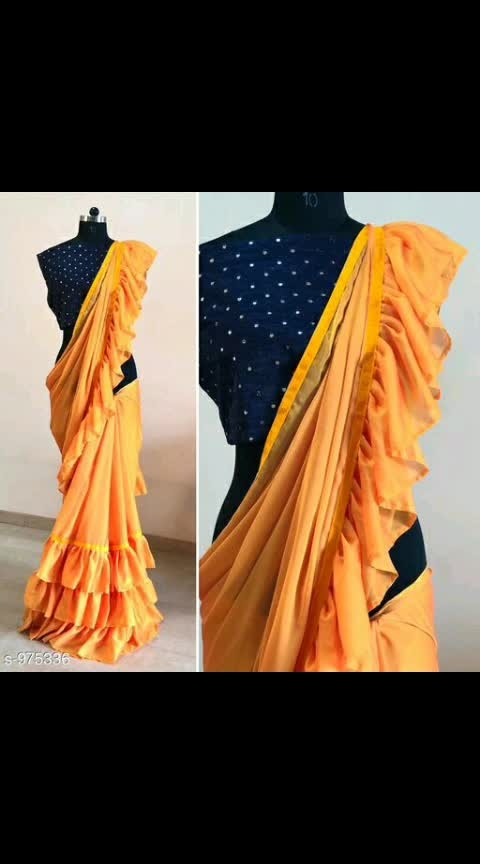 *Royal Ethnic Women's Ruffle Sarees Vol 1*  Fabric: Saree - Banglori Satin, Blouse - Banglori Satin  Size: Saree Length - 5.5 Mtr, Blouse Length - 0.80 Mtr  Work: Saree - Solid, Blouse - Mirror Work  Dispatch: 2 – 3 Days  Designs: 6  Easy Returns Available in Case Of Any Issue 1075 only #rufflesarees #rufflesaree #banglorisatin #mirrorwork #shopwithus #buyitnow #thebazaar #cashondelivery #thebazaar #followusonroposo