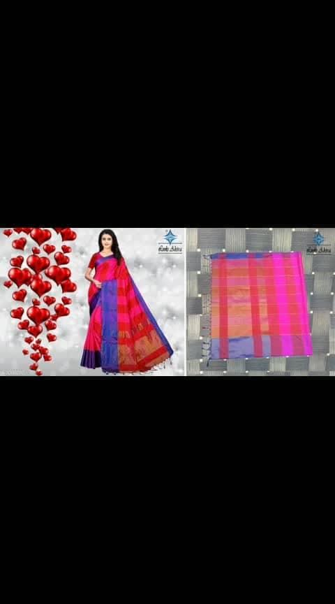 Mahesha Fashion  Fabric: Saree - Silk, Blouse - Silk  Size: Saree Length With Running Blouse - 6.3 Mtr  Work: Pattern Checkered  Dispatch: 2 - 3 Days @380 Cod available shipping free What's up  9⃣1⃣7⃣3⃣0⃣3⃣8⃣1⃣2⃣9⃣