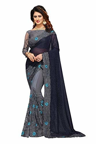 Anubhuti Sarees WomenGeorgette & Net #Saree With #Blouse @ Rs.1599. Buy Now at http://bit.ly/2UQT6hf
