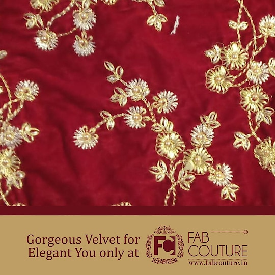 Gorgeous #Velvet for Elegant you only at Fab Couture!!!!  For shopping visit us : www.fabcouture.in #SantoshyShetty #JuhiGodambe #MasoomMinawala #riyajain #KomalPandey #shereenlovebug #AashnaShroff #KritikaKhurana  #FabCouture! #DesignerFabric #AffordablePrices #DesignerDresses #Fabric #Fashion #DesignerWear #ModernWomen #DesiLook #Embroidered #WeddingFashion #EthnicAttire #WesternLook #affordablefashion #GreatDesignsStartwithGreatFabrics #LightnBrightColors #StandApartfromtheCrowd #EmbroideredFabrics