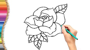 How to Draw a Rose | Esay-step-by-step drawing lessons for kids by Drawing World .Please Subscribe my youtube Channel Subscribe my Channel. #drawings #paintings #painting #drawing #paint #art #kids #childrens #creative #drawing #love-drawing #followmeonroposo