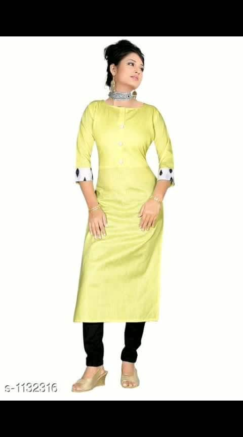 Mahesha Fashion   Fabric: Khadi Cotton  Sleeves: 3/4 Sleeves Are Included   Size: M - 38 in, L - 40 in, XL - 42 in, XXL - 44 in  Length: Up To 44 in  Type: Stitched  Description: It Has 1 Piece Of Women's Kurti   Work:  Solid @499 Cod available shipping free What's up  9⃣1⃣7⃣3⃣0⃣3⃣8⃣1⃣2⃣9⃣