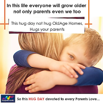 In this is life everyone will grow older not only parents even we too.  This hug day does not hug Old Age Homes. Hug your parents. 👫👍  So this HUG DAY devoted to every parent love...👨‍👩‍👧‍👦😘  #Happy #HugsDay #HugDay #HappyHugDay #HugDay2019 #Hug #Hugs #Valentine2019 #valentines #day #february #love #parentslove #respectparents #loveparents #hugparents #truelove #emotions #smile #spreadlove #spread #happiness #care #parents #happyvalentinesday #happyvalentinesweek #Nashikfame #Nasik #Nashik