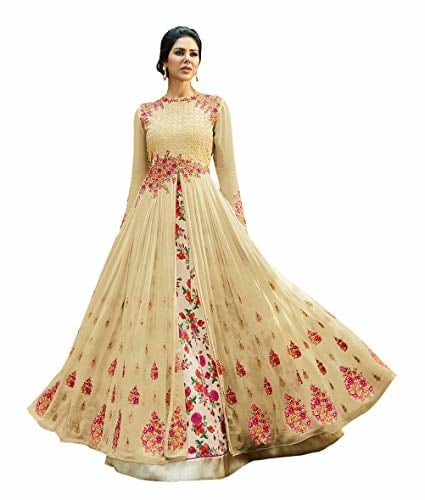 Sojitra Enterprise Women Heavy Embroidered Work Bridal #Wedding #Dress and #Anarkali @ Rs.1125. Buy Now at http://bit.ly/2BxPVno