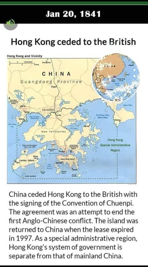 #history #hongkong ceded to #british