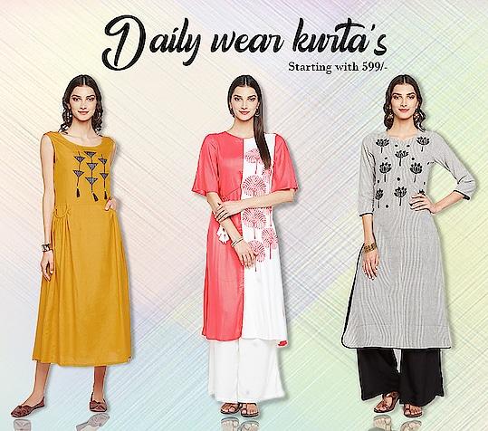 Daily wear kurta's!  https://bit.ly/2TMhS2f  #9rasa #colors #studiorasa #ethnicwear #ethniclook #fusionfashion #online #fashion #like #comment #share #followus #like4like #likeforcomment #like4comment #kurta #newarrivals #ss19collection #ss19 #dailywear