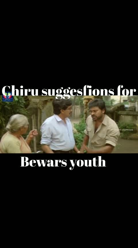 chiranjeevi suggesting to bewars youth watch Nd enjoy #chiranjeevi #suggestions #roposoness