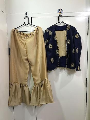 heavy satin banglori jacket with thread zari + mirror work + tassels border Work  ( full stich upto 42 )  ⏭ satin Georget silk plazzo inner attach ( full stich upto 42 )  ⏭ satin georget blouse ( unstitch )  Price - 1580/-  For Order Call / Whatsapp - 07977424375  Ready to ship ✅  #jacket #jacketlove #halfjacket #banglori #women-fashion #women-style #women-clothing #womensonlineshopping #storeadda