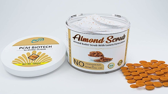 PCM Biotech, Almond Butter Scrub With Luxury Formulation (100gm)  This is a Strong formulation with Real Almond Powder that mixed with Cocoa Butter to help purify and deep cleanse the skin that result in a perfect radiant skin. Hydrates and reduce signs of aging - This scrub has the ability to reduce the appearance of wrinkles, fine lines and dark spots leaving you with beautiful skin and feeling younger Natural exfoliating scrub removing dead skin cells Polishing the skin   Buy Now :- https://amzn.to/2BwhJZy