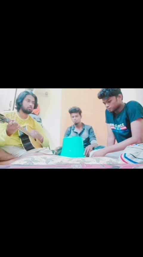 #roposo-on-music #roposo-song #yuvanism  #lovetowardsyuvan #kambathu_ponnu  #guitarpick #cover #bucketdrum #riaz #paul #harsha