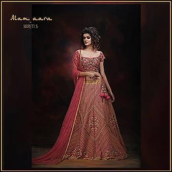 """A floral and geometric lehenga by Shruti S from the """"Alam-Aara"""" collection..   #lehengaskirt #weddinglehenga #wedding-outfits #engagements  #indianwear #embroidered #lehenga-for- #punjabiweddings  #lehengacholi #lahengas #weddingwear #indiancouture"""