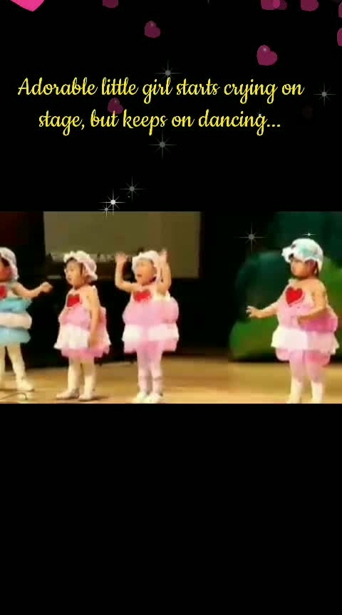 Adorable little girl starts crying on stage, but keeps on dancing... 💙💛💟💜😍😍😍😍 #inspiration  #babyfun  #babychakra