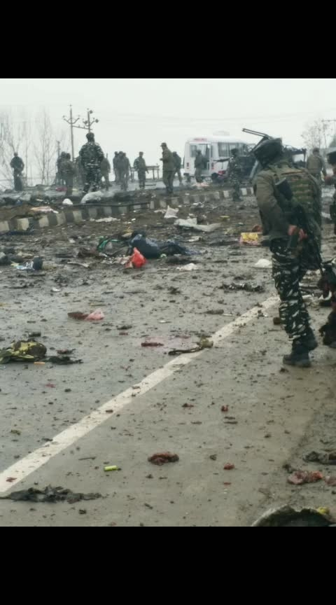 #Pulwama Attack Images