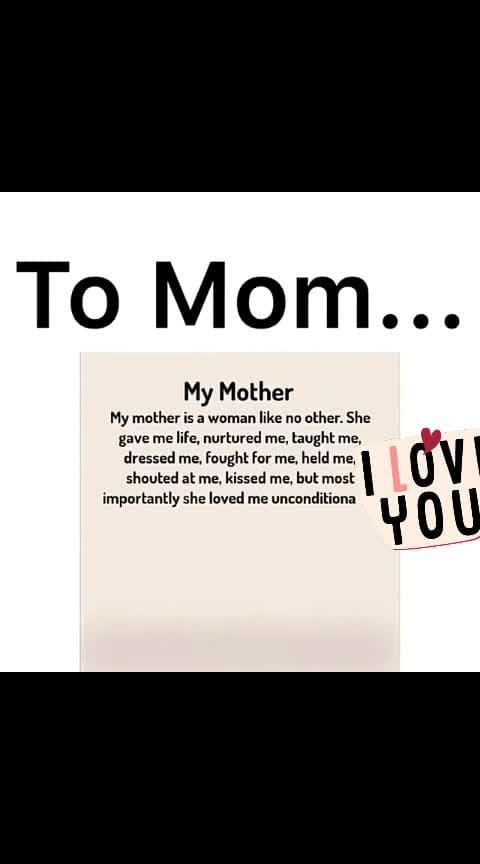#respectformothers  there is noone in the world who love u more than ur mother ❤
